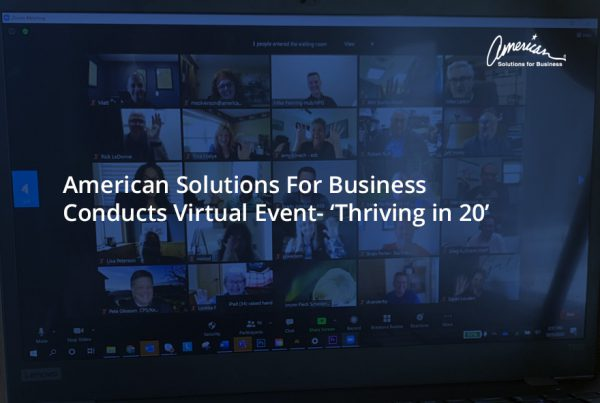 American Solutions For Business Conducts Virtual Event- 'Thriving in 20'