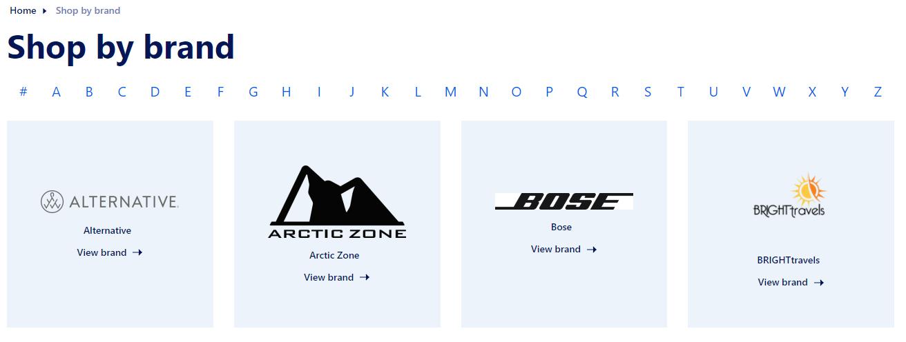 PCNA Shop By Brand
